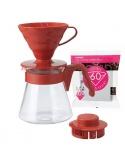 Zestaw dla parzenia kawy metodą przelewową drip